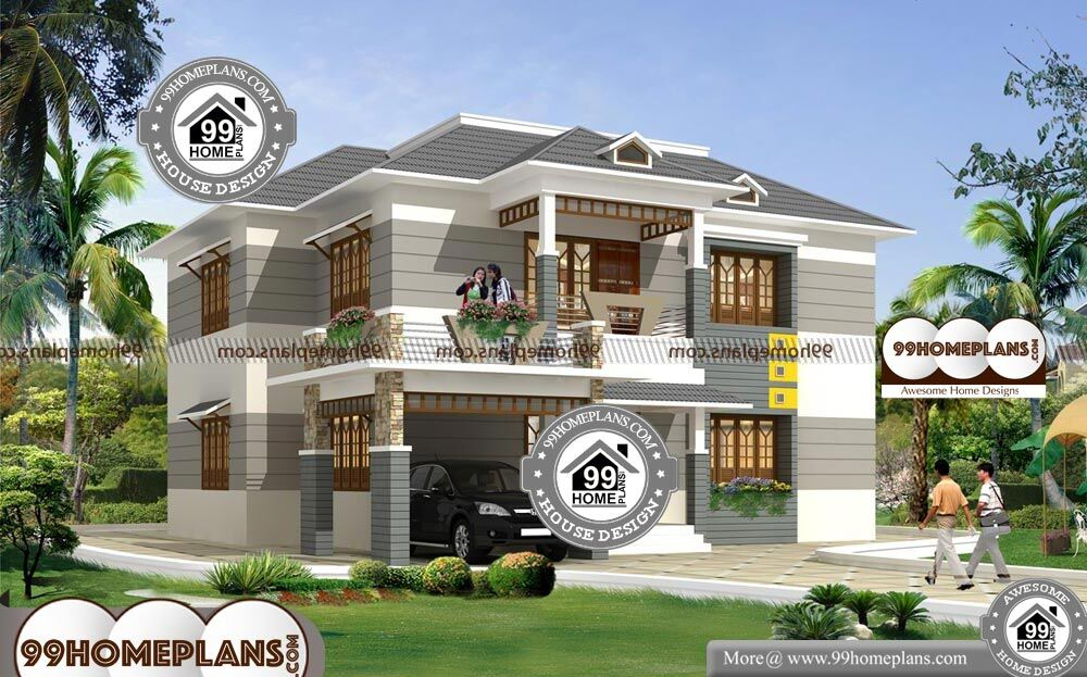 Kerala Traditional House Models With Double Floor Modern