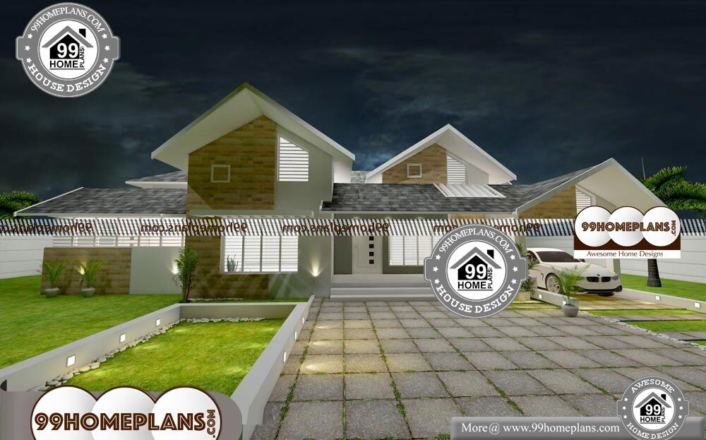 Low Cost Double Storey House Plans - Single Story 2700 sqft-Home