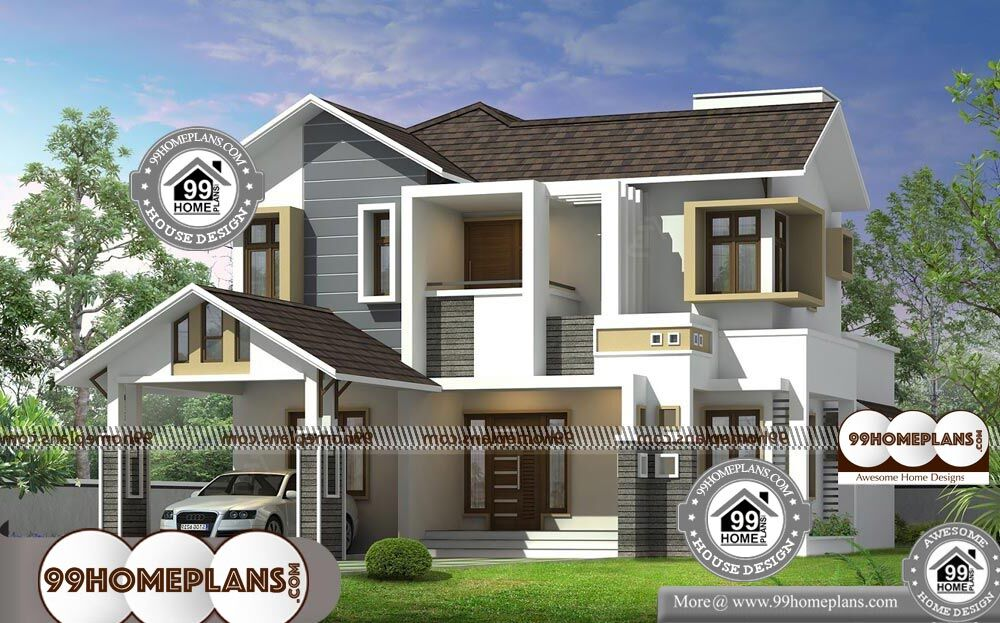 Modern 2 Storey House Designs And Floor Plans - 2 Story 1970 sqft-Home
