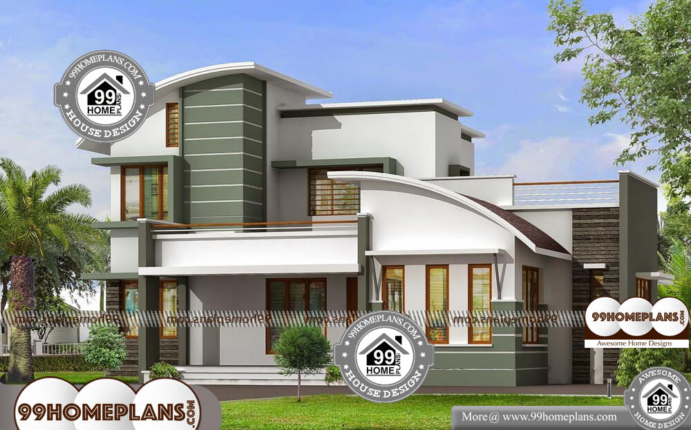 Modern house plans double storey new contemporary home for 2500 sqft 2 story house plans