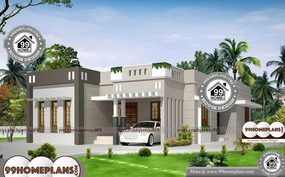 Modern One Story House Designs And Floor Plans - Single Story 1249 sqft-Home