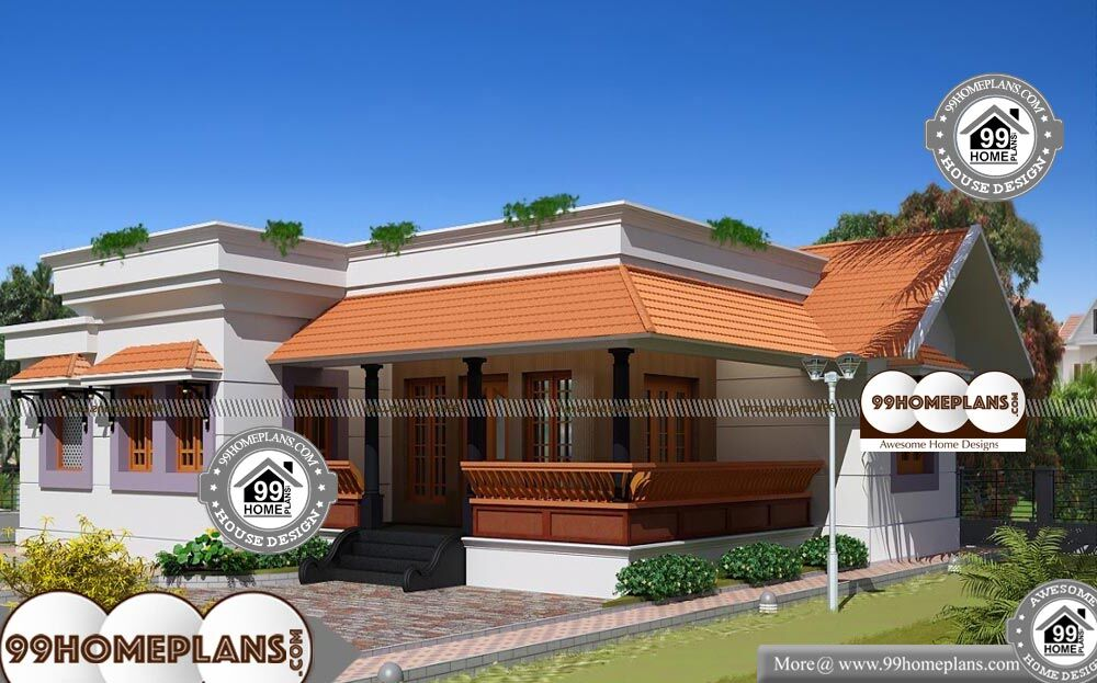 one level home plans single story 1650 sqft home - One Level Home Designs