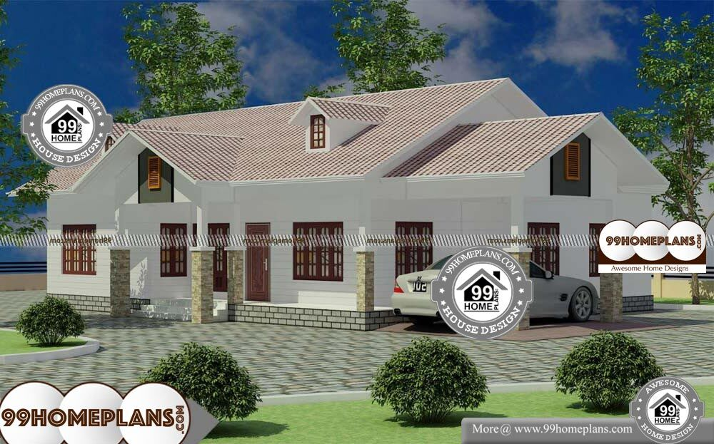 One Story Colonial House Plans - Single Story 1700 sqft-Home