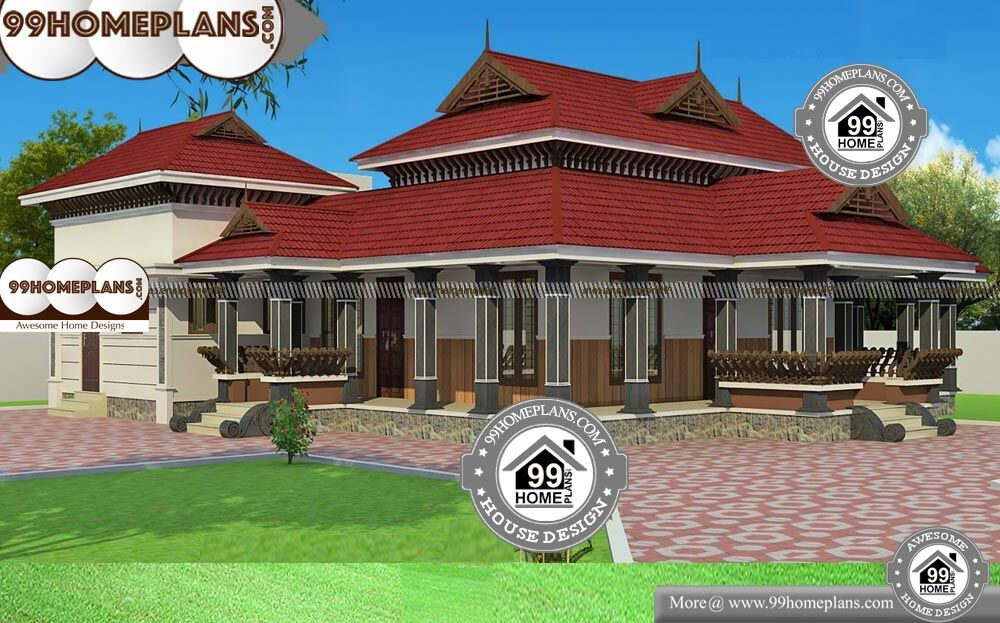 One Story Traditional House Plans - Single Story 2400 sqft-Home