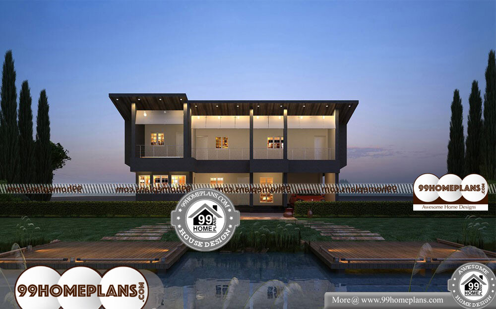Popular Small House Plans - 2 Story 4000 sqft-Home