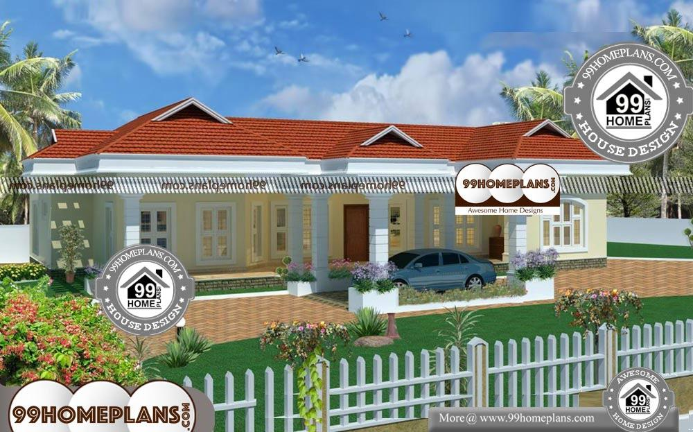 Simple House Plans In Kerala One Floor - Single Story 2900 sqft-Home