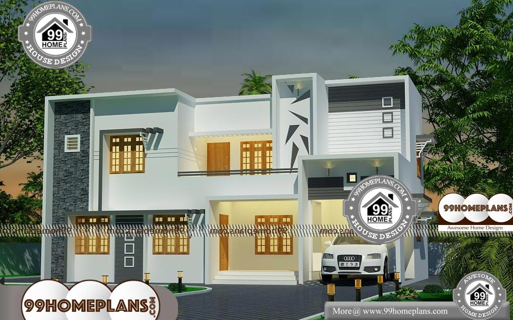 Simple Modern Home Plans - 2 Story 1975 sqft-Home
