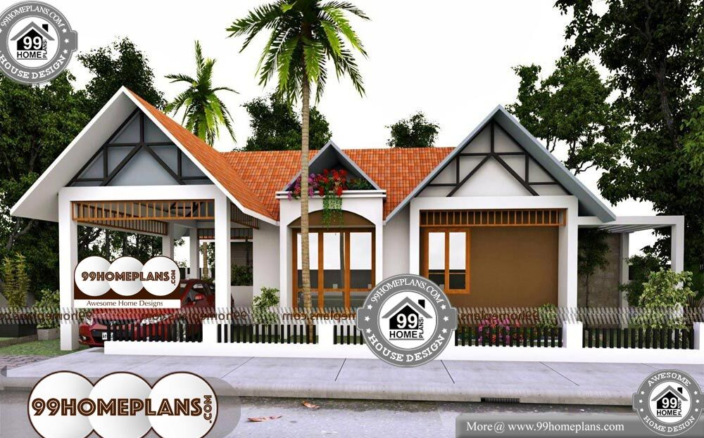 Simple One Storey House Plans - Single Story 1915 sqft-Home