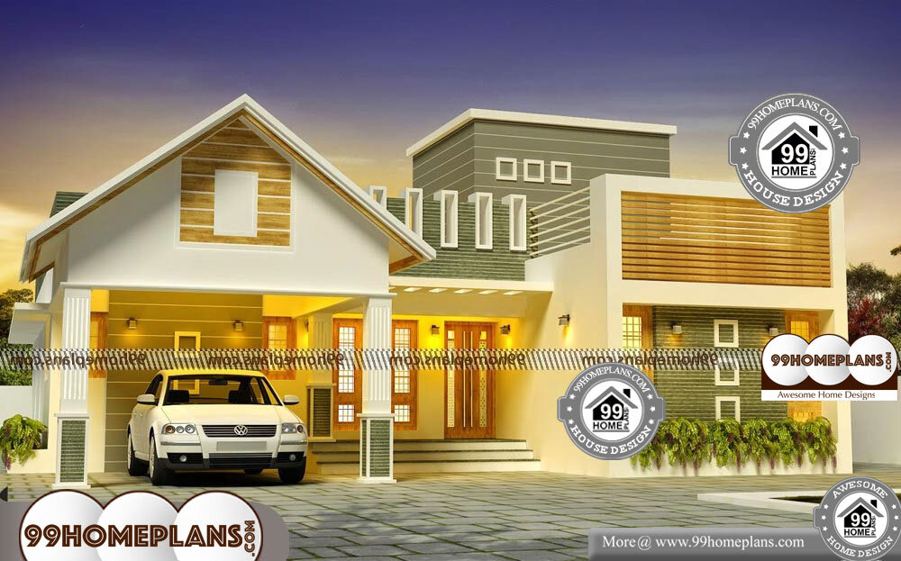 Small 1 Story House Plans - Single Story 2040 sqft-Home