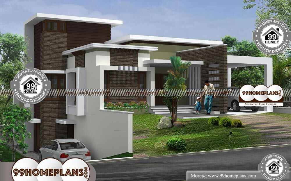 Small Contemporary House Plans In Kerala   2 Story 2699 Sqft Home