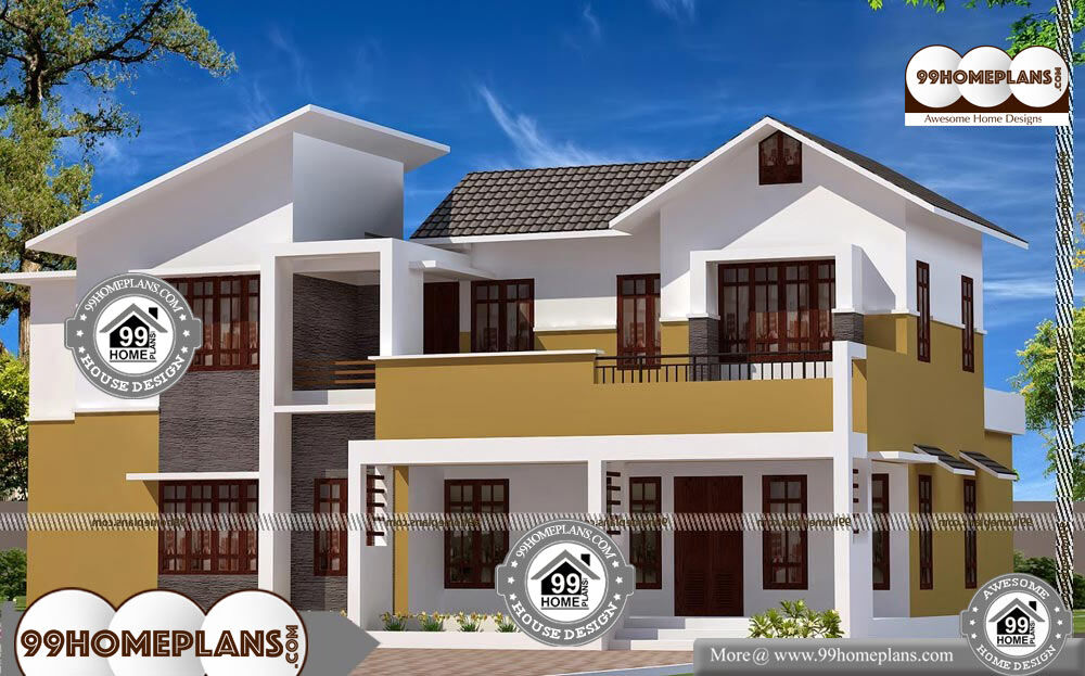 Small house design two storey and iron railing balcony for 2500 sqft 2 story house plans