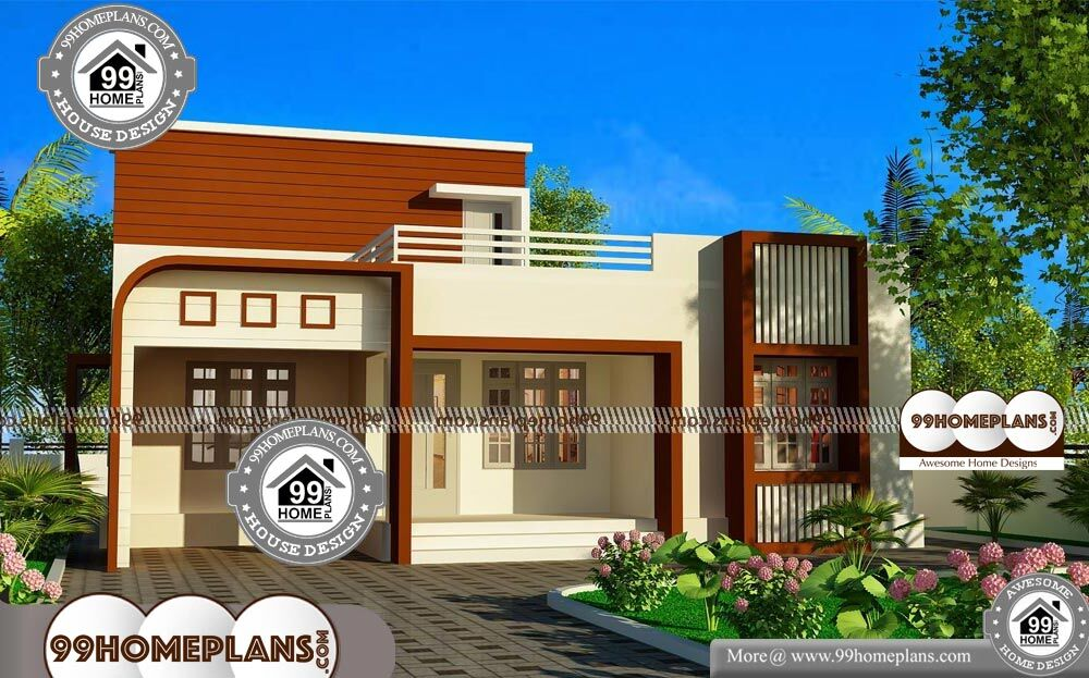 Small Modern Floor Plans - Single Story 940 sqft-Home