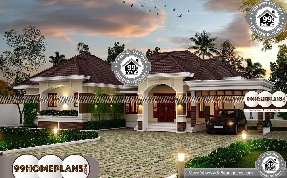 Small Modern House Plans One Floor - Single Story 2884 sqft-Home