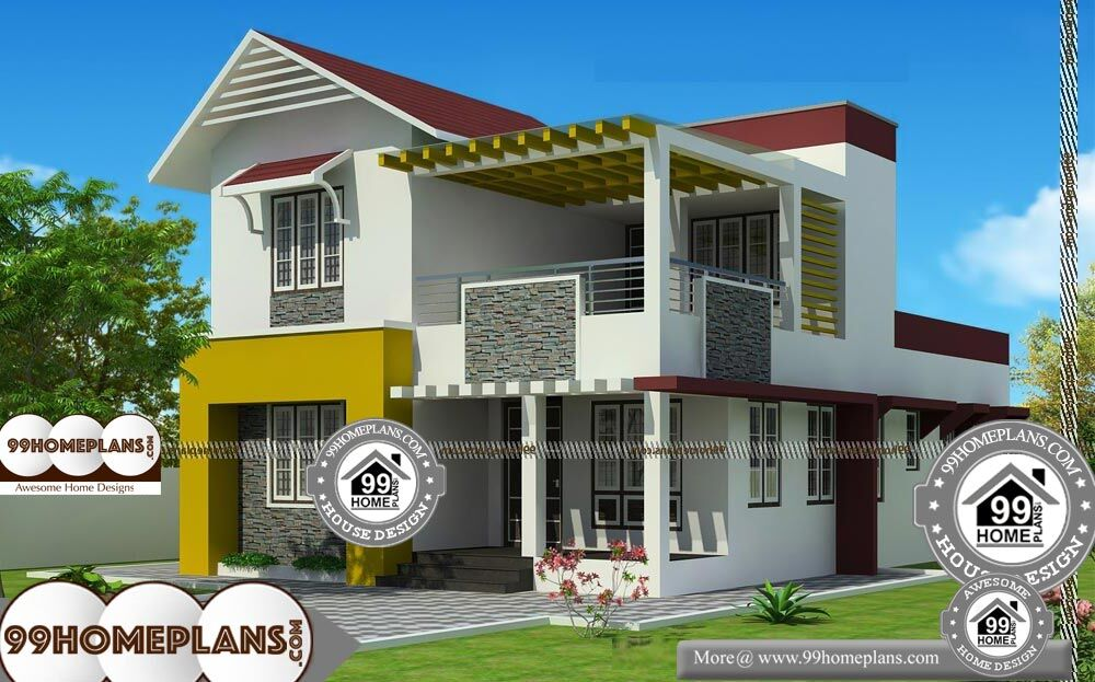 Southern Ranch House Plans - 2 Story 1900 sqft-Home