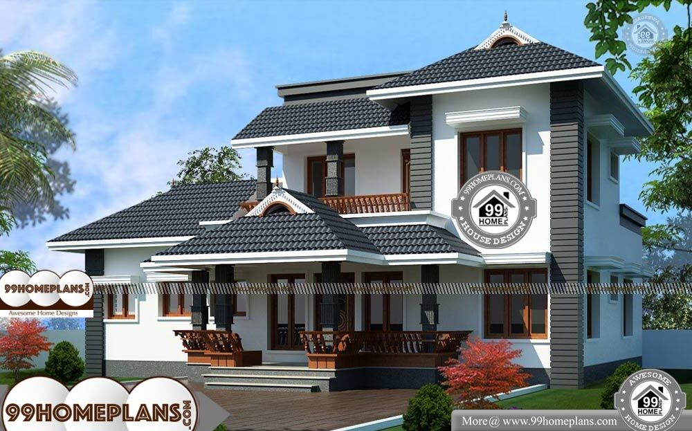 Traditional 2 Story House Plans With Kerala Style Superb