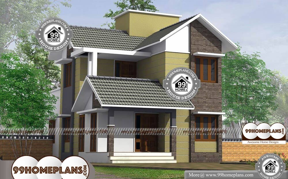 Traditional house designs with 2 floor modern new kerala for Traditional 2 story house