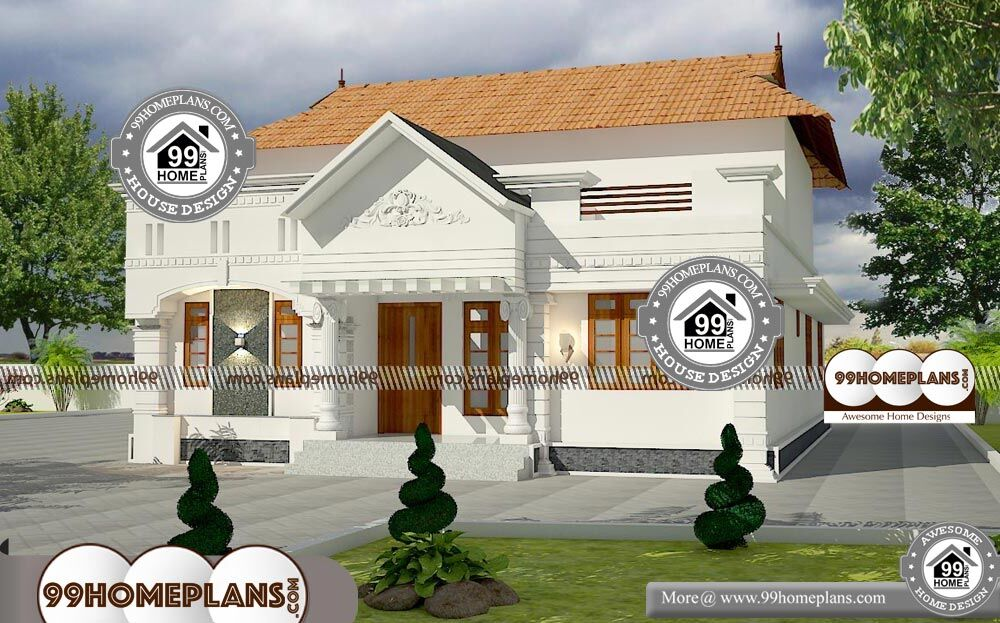 Traditional House Designs In Kerala - Single Story 1448 sqft-Home