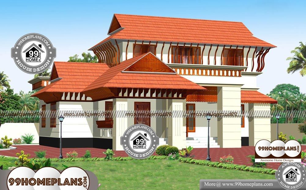 Traditional House Plans In Kerala   2 Story 2300 Sqft Home