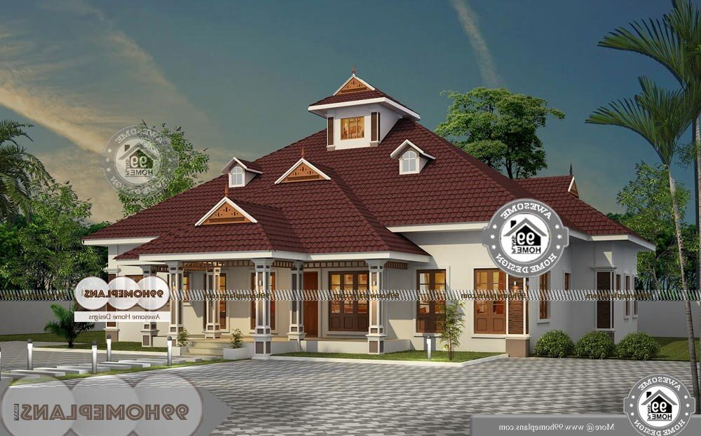 Traditional House Plans One Story - Single Story 2970 sqft-Home