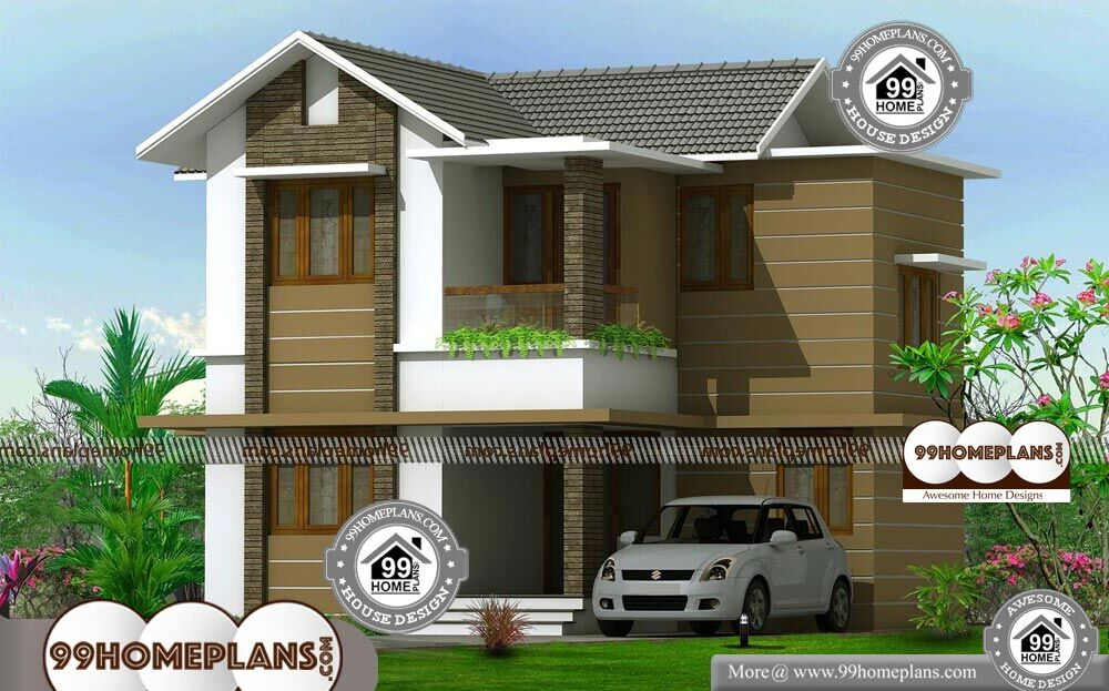 Two Floor Home Design - 2 Story 1400 sqft-Home