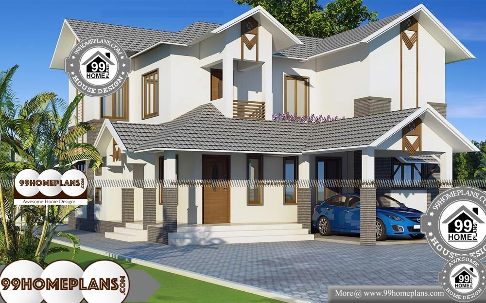 Two Storey Beach House Plans - 2 Story 3200 sqft-Home