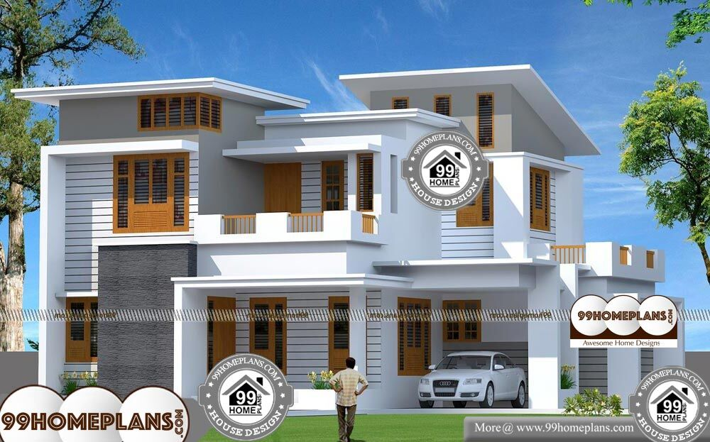 Two Storey Residential Building Plan - 2 Story 1800 sqft-Home