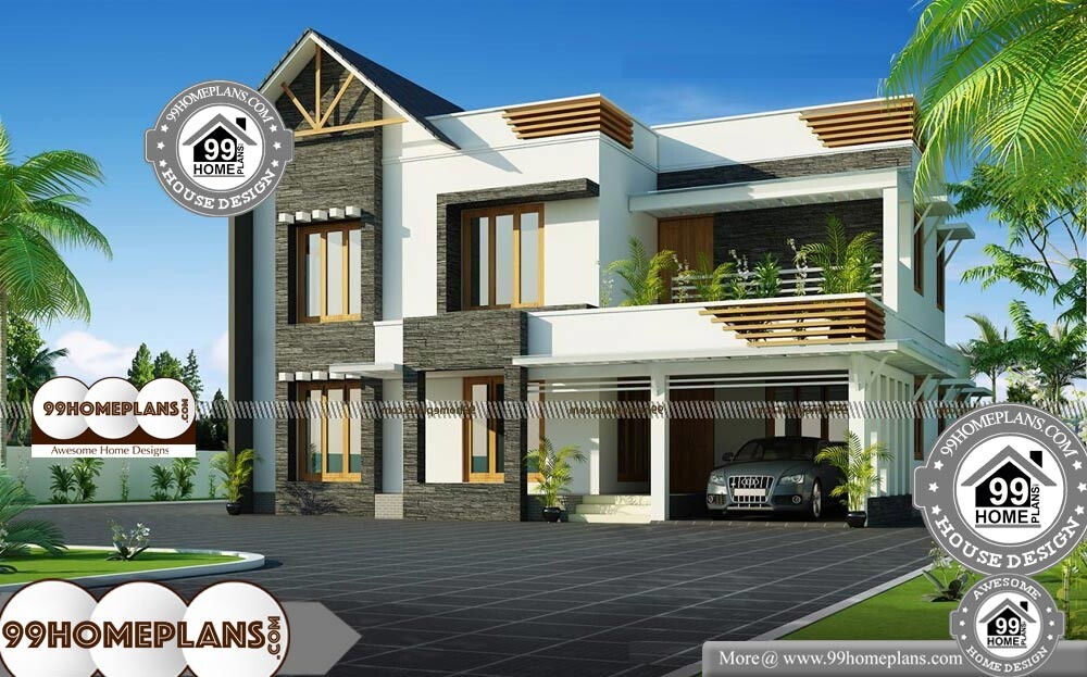 Two Storey Residential House Plans with Wrap Around ...