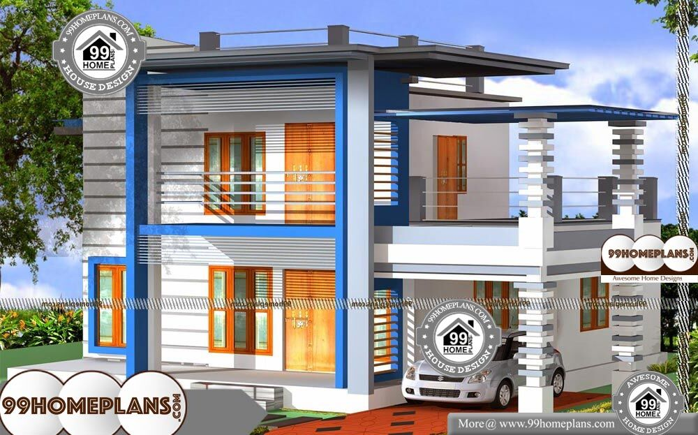 Two Story House With Balcony - 2 Story 1600 sqft-Home