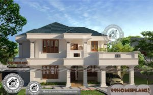 Affordable Two Story House Plans with Traditional Large Home Collections
