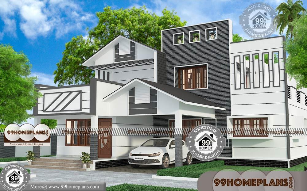 American Small House Plans with 2 Floor Modern Low Cost ...