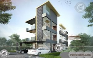 Apartment Building Floor Plan with Cute Style Modern Flats Available