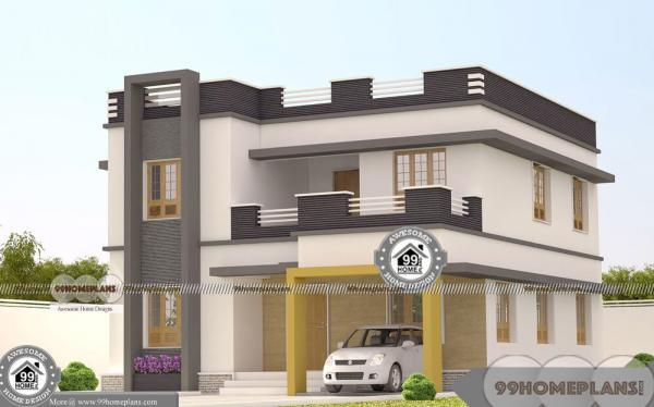 Architect Designed Houses In Bangalore with Double Floor Modern Plans
