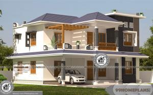 Architectural Design For Small House In India with 2 Story Modern Homes