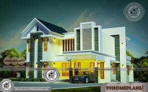 Architectural Designs For 4 Bedroom Bungalow With Two Floor Home Plan