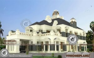 Architecture Bungalow Design with Double Story House Pattern Collections