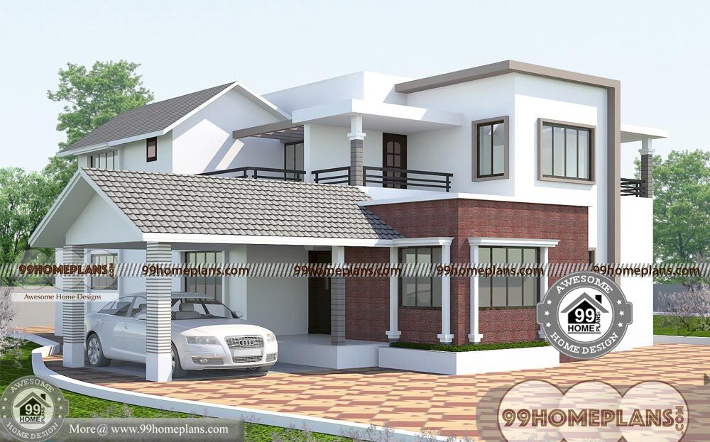 Architecture Design Of Houses In India With Double Story Bungalow Plans