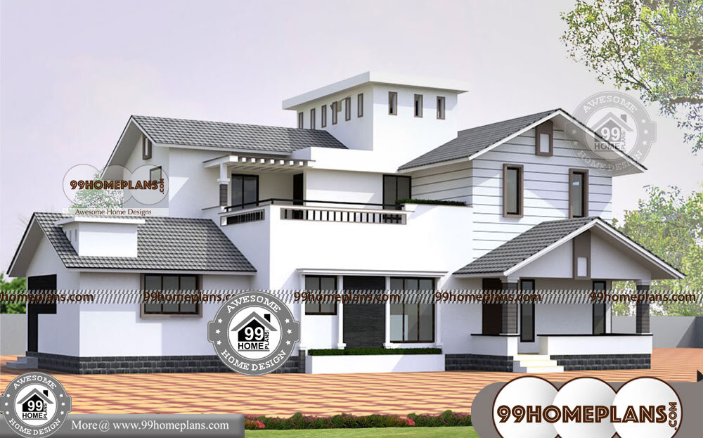 Architecture Designs For Homes In India with Double Story Bungalow Plan