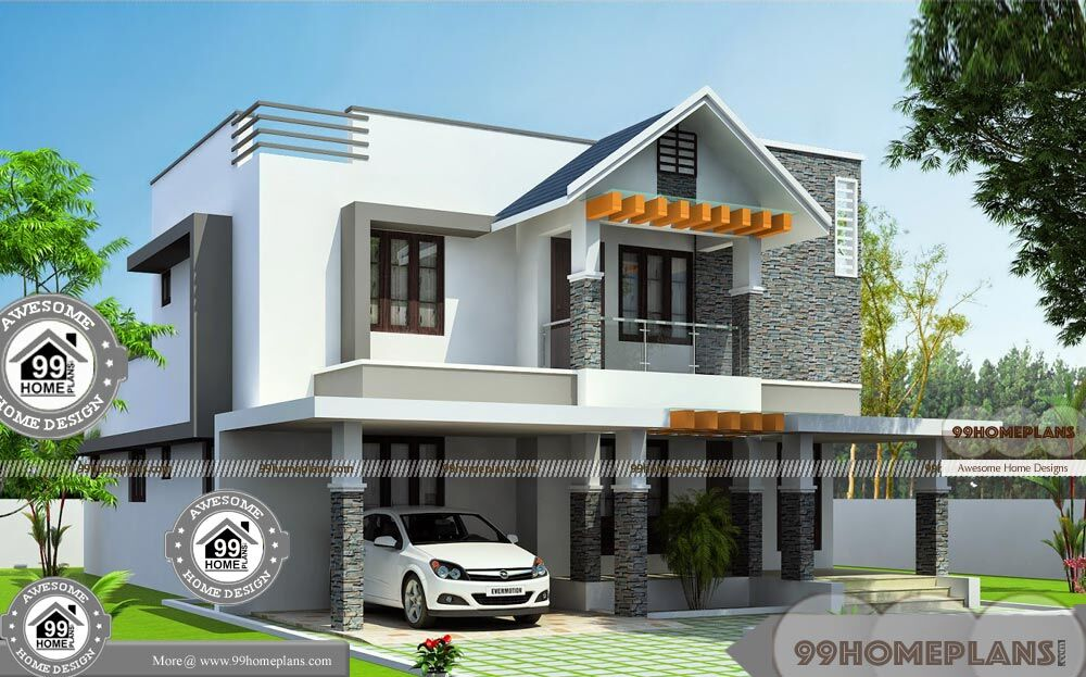 Assam type house front side design with ultra modern home for House front model design