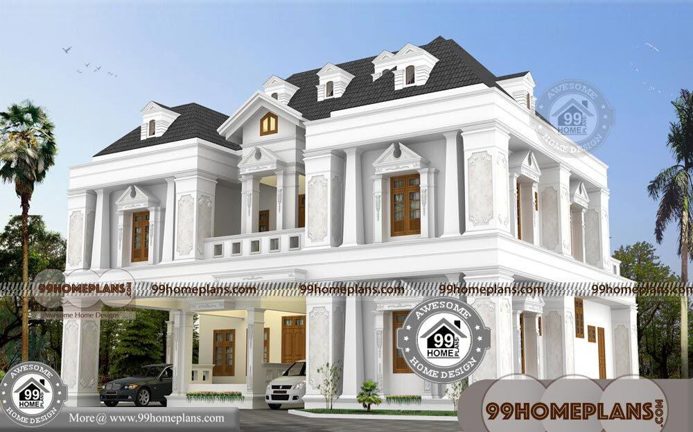 Basic Bungalow House Plans with Indian Style Double Story Home Design