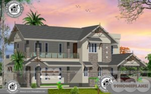 Beautiful Bungalow House Plans with Double Floor Traditional Collections