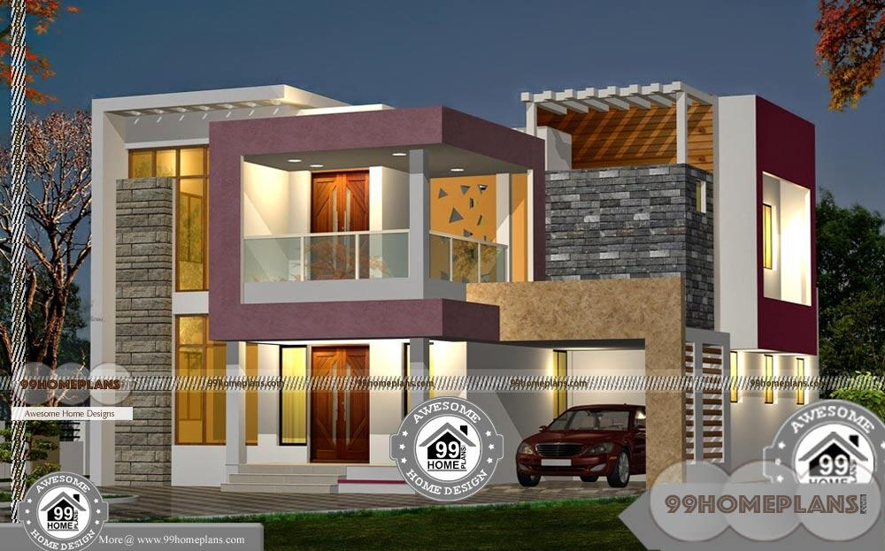 beautiful double storey house plans with modern