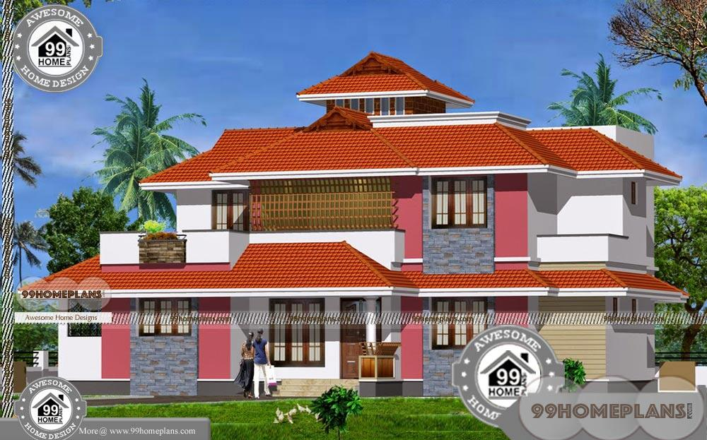 Beautiful Double Story Houses And Virtual Styles Of Modern