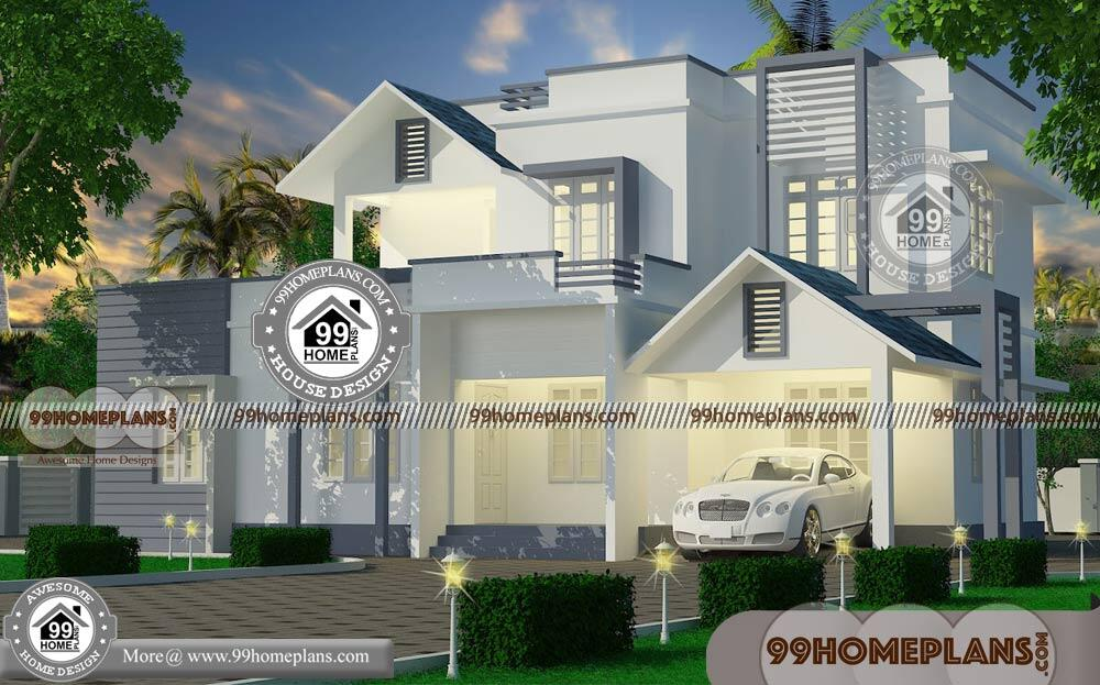 Beautiful Kerala House Plans With Photos Of Two Story Modern
