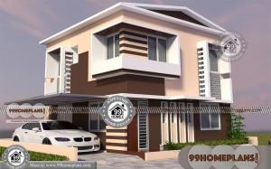 Beautiful Two Storey House Designs with Traditional Home Popular Plans