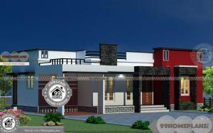 Best One Story House Plans with Box / Modern Arch Type Elevation Plans