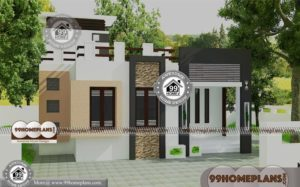 Box Type House Plan with Double Storied Modern Narrow Lot Latest Plans