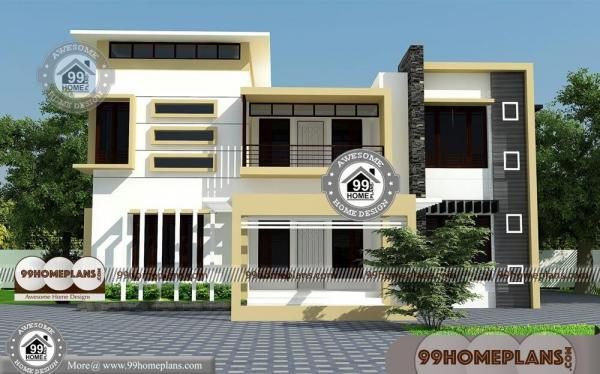 Box Type House with Double Floor Modern Simple Low Cost Homes Free