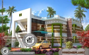 Brick House Plans With Front Porch with Double Story Bungalow Designs