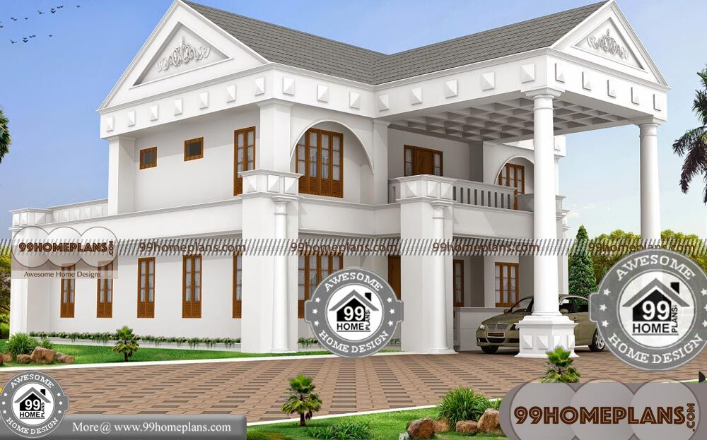 Bungalow 2 Story House Plans With Double Story Ultra Modern