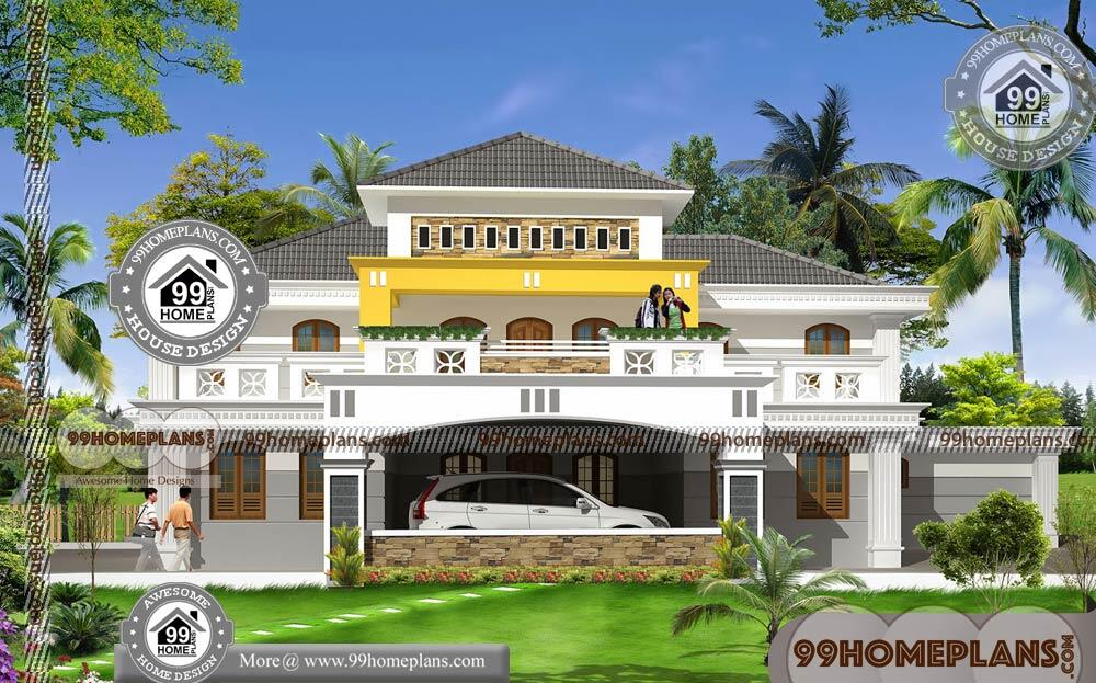 Bungalow Home Designs with 2 Story Large Luxurious Stunning Floor Plan